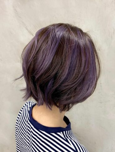 亮紫層次染短髮