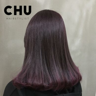 及肩漸層染內捲梨花頭 Chu.hair.stylist