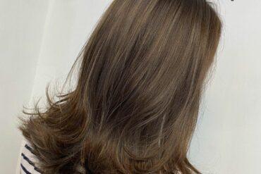 啞啡氣質髮尾外捲中長髮