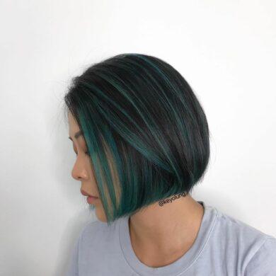墨綠highlight短bob頭 Keyo Hair