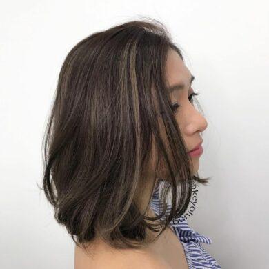 層次自然捲bob Keyo Hair
