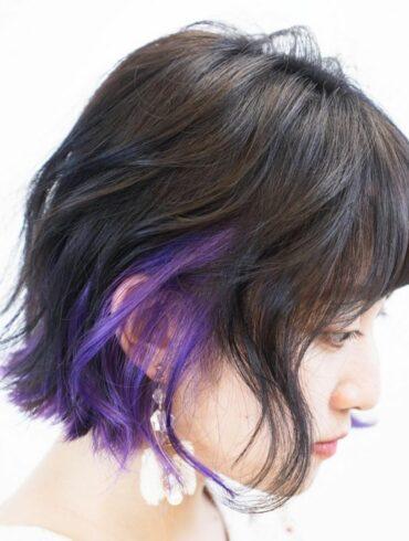 微捲耳圈染短髮