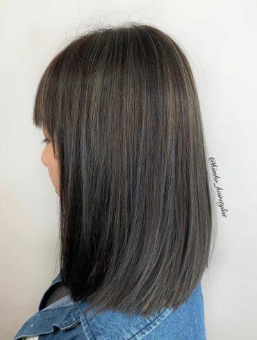 柔美弧形順直髮