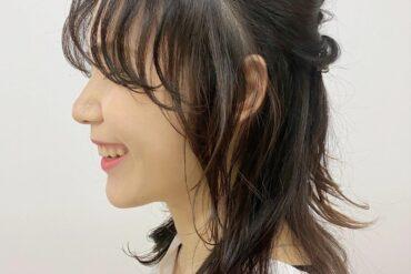 空氣感瀏海中長髮造型