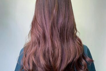 粉紅棕波浪捲