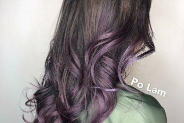 粉紫大捲波浪