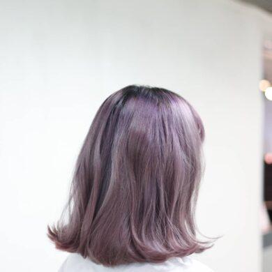 粉紫髮尾外捲bob Jacklam2019