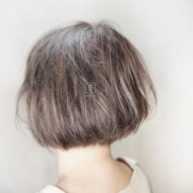 蓬鬆飽滿短bob Manyeung Hair Stylist
