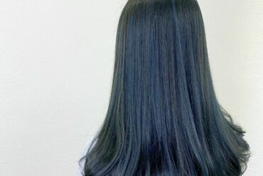 藍綠色C形捲梨花頭