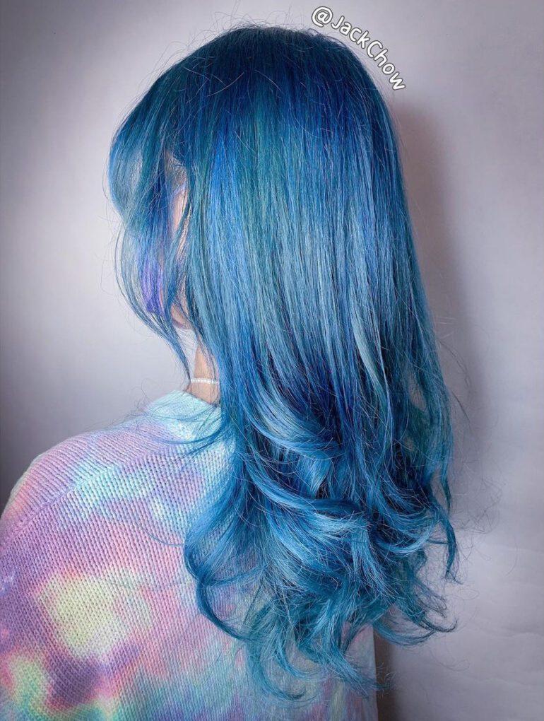 閃亮藍x自然微捲髮