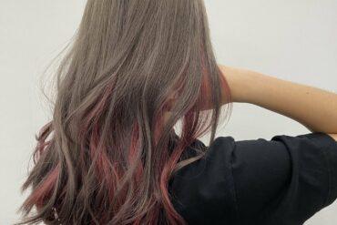 隨性捲髮x啞啡粉紅lowlight