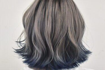 髮尾外捲漸層染